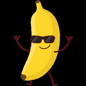 Lustige Banane Coole Banana mit Sonnenbrille
