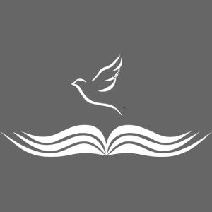 La bible ouverte et oiseau blanc