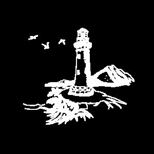 Oase am Meer Leuchtturm maritim Möwen