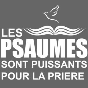les psaumes sont puissants pour la prière en blanc