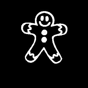 Lebkuchen Mann Figur zu Weihnachten