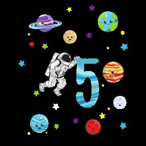 5. Geburtstag Astronauten Sonnensystem Geschenk