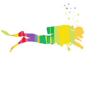 Dive Colorful Underwater Diver Gift