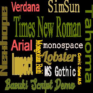 Text Design Schriftarten