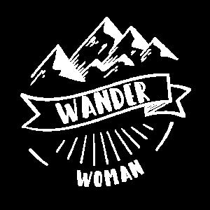 Wandern & Trekking Motiv für eine Wander Woman