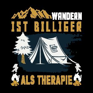 Wanderer Wandern ist billiger als Therapie. lustig
