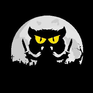 Katze Spruch Geschenk Halloween