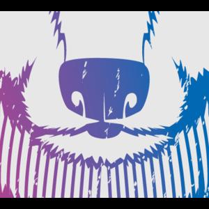 Wolf Grunge Farbpalette Heulen Tier Mund Gesicht