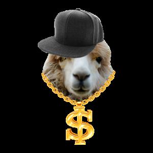 Hip Hop Lama Rapper Style Alpaka Cap Goldkette