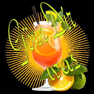 Spruch gönn dir was cocktail orange Party Urlaub