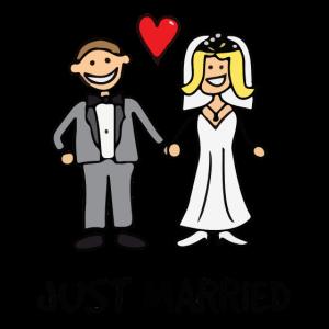 Gerade verheiratet - Lustiges Brautgeschenk