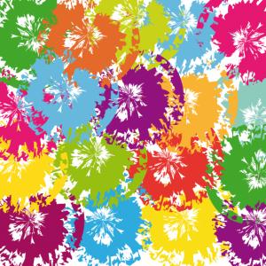 Bunte Farbkleckse | Aquarellfarbe | Pinselkleckse
