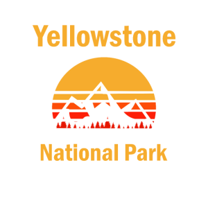 Jahrgangs-Yellowstone-Nationalpark