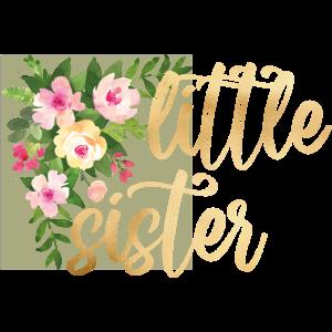 little sister flowers Goldfolie Goldeffekt Baby