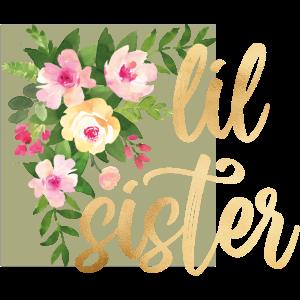 lil sister flowers Goldfolie Goldeffekt Baby