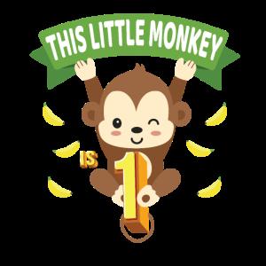 Dieser kleine Affe ist 1 Jahre altes Kind 1 ..