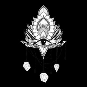 Wunderschönes elegantes Lotus-Mandala-Design