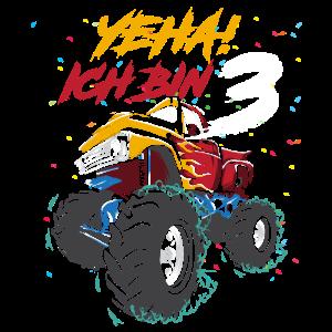 Geburtstag 3 Jahre Monster Truck Kindergeburtstag