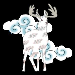 Mythischer Hirsch