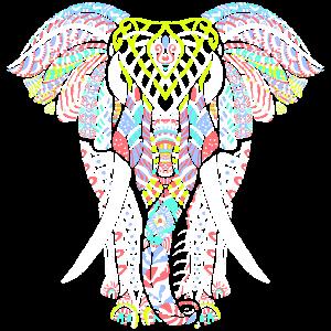 Elefant Mandala Tribal Ganesha Chakra Yoga Tattoo