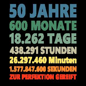 50ter Geburtstag 50 Jahre Geschenk