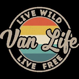 Van Life Vintage Retro Bus Transporter Road Trip