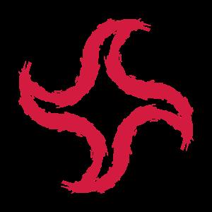 Wurfstern rot