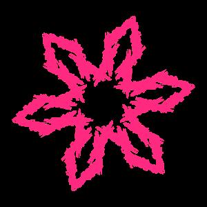 Wurfstern Symbol Rosa