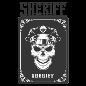 Sheriff Card Design Totenkopf