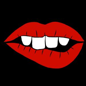 Mund Zähne Maske Mundschutz Lippen Geschenk