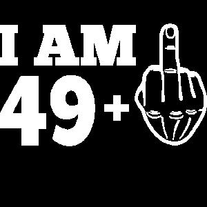 50. Geburtstag 49 + Mittelfinger 50 Jahre T-Shirt