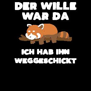 Der Wille War Da Faul Roter Panda