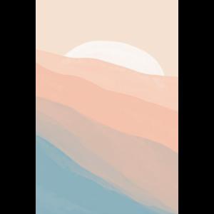 Abstrakter Sonnenuntergang