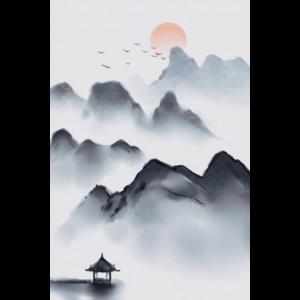 Zeichnen der traditionellen chinesischen Artlandschaft