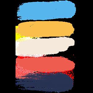 Vintage Pinselstriche Farben grunge