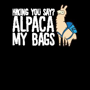 Wandern Sie sagen Alpaka Meine Taschen Netter
