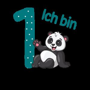1. Geburtstag Junge Pandabär Geschenk Ich bin eins