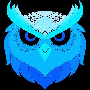 Vögel Shirt mit Eulen Mandala Tattoo Art Tribal