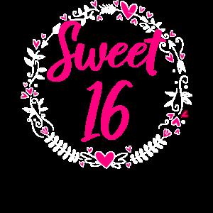 Sweet 16. Geburtstag Mädchen 16 Jahre Geschenk