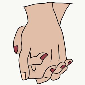 Zusammenhalt Händchen halten Liebe Beziehung Love