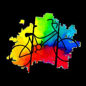 Farbenfrohes Fahrrad