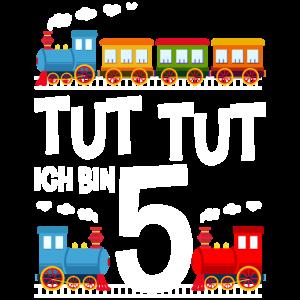 5. Geburtstag Eisenbahn Zug 5 Jahre