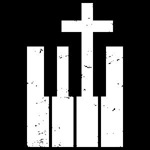Keyboard und Cross - Christlicher Musiker