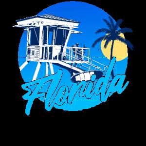 Florida Lifeguard Blue Sunset