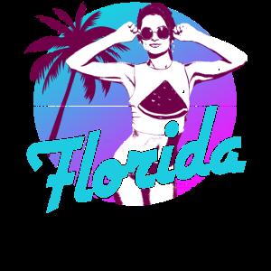 Florida Beach Girl Neon