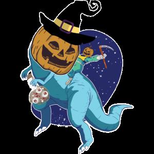 Halloween Dinosaurier Gruselig Kürbis Weltraum All