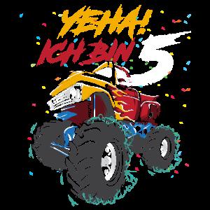 Geburtstag 5 Jahre Monster Truck Kindergeburtstag