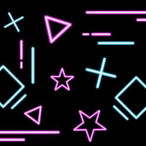 Neon Retro Muster Pop 80er 90er