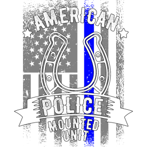 American Police Mounted Unit Police Horse American