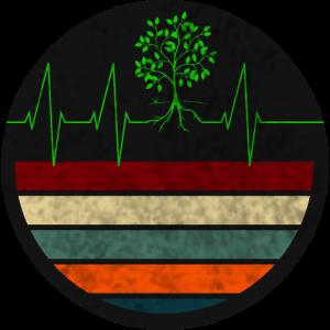 Retro Herzschlag Pflanzen